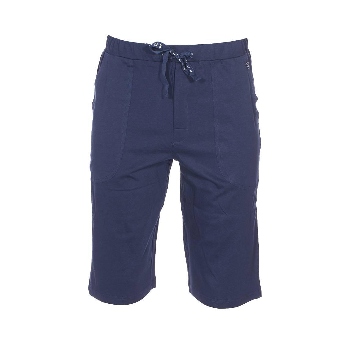 Short d\'intérieur  en coton bleu marine