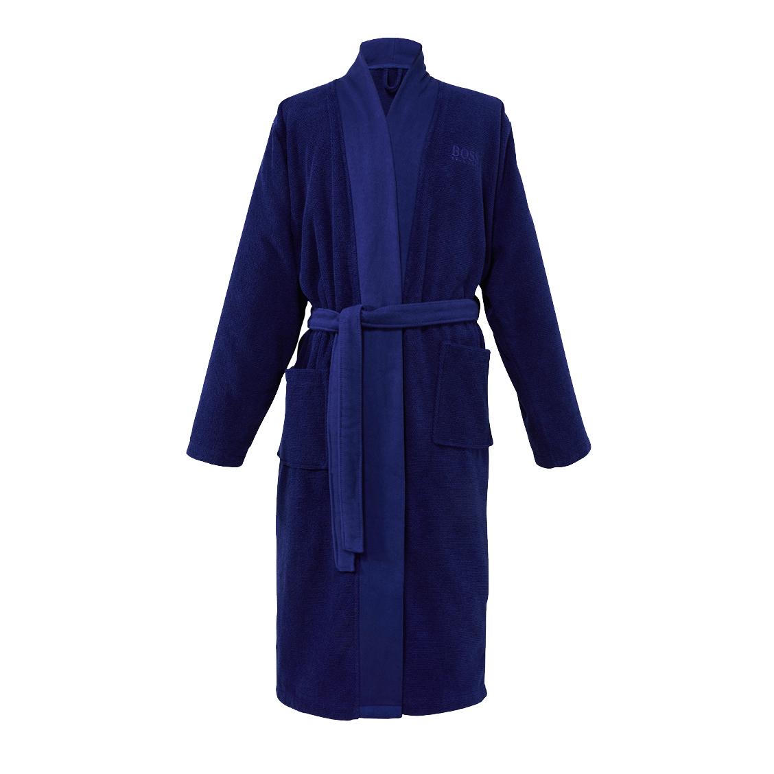 Kimono  loft en coton peigné d\'egée bleu marine