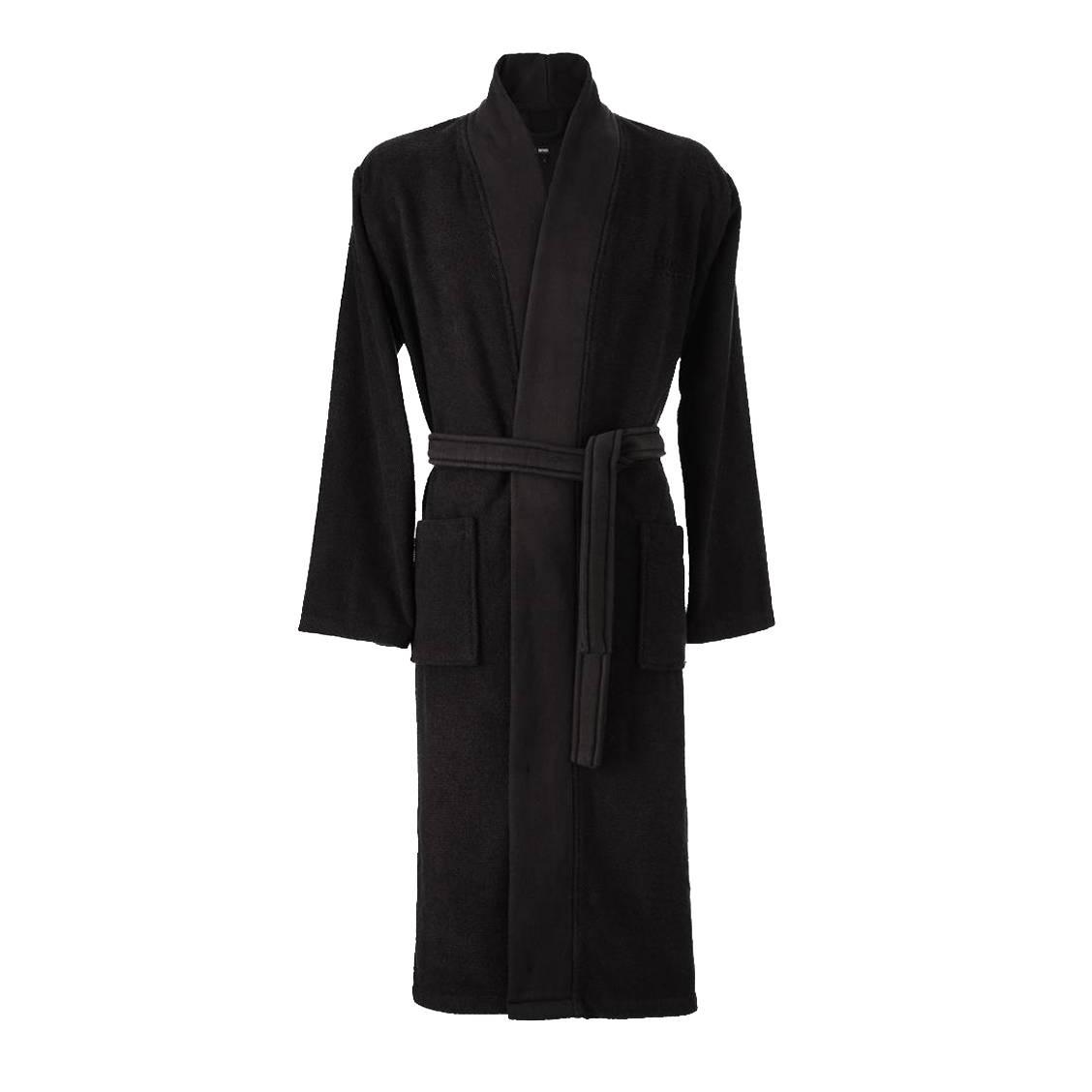 Kimono  loft en coton peigné d\'egée noir