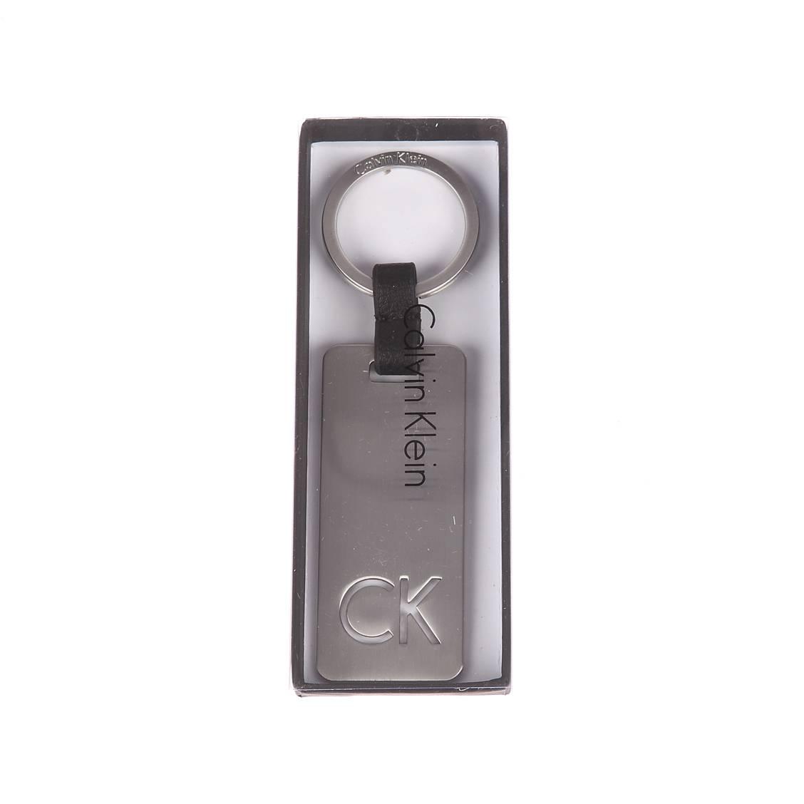 Porte-clé calvin klein jeans en métal à l\'effigie de le marque