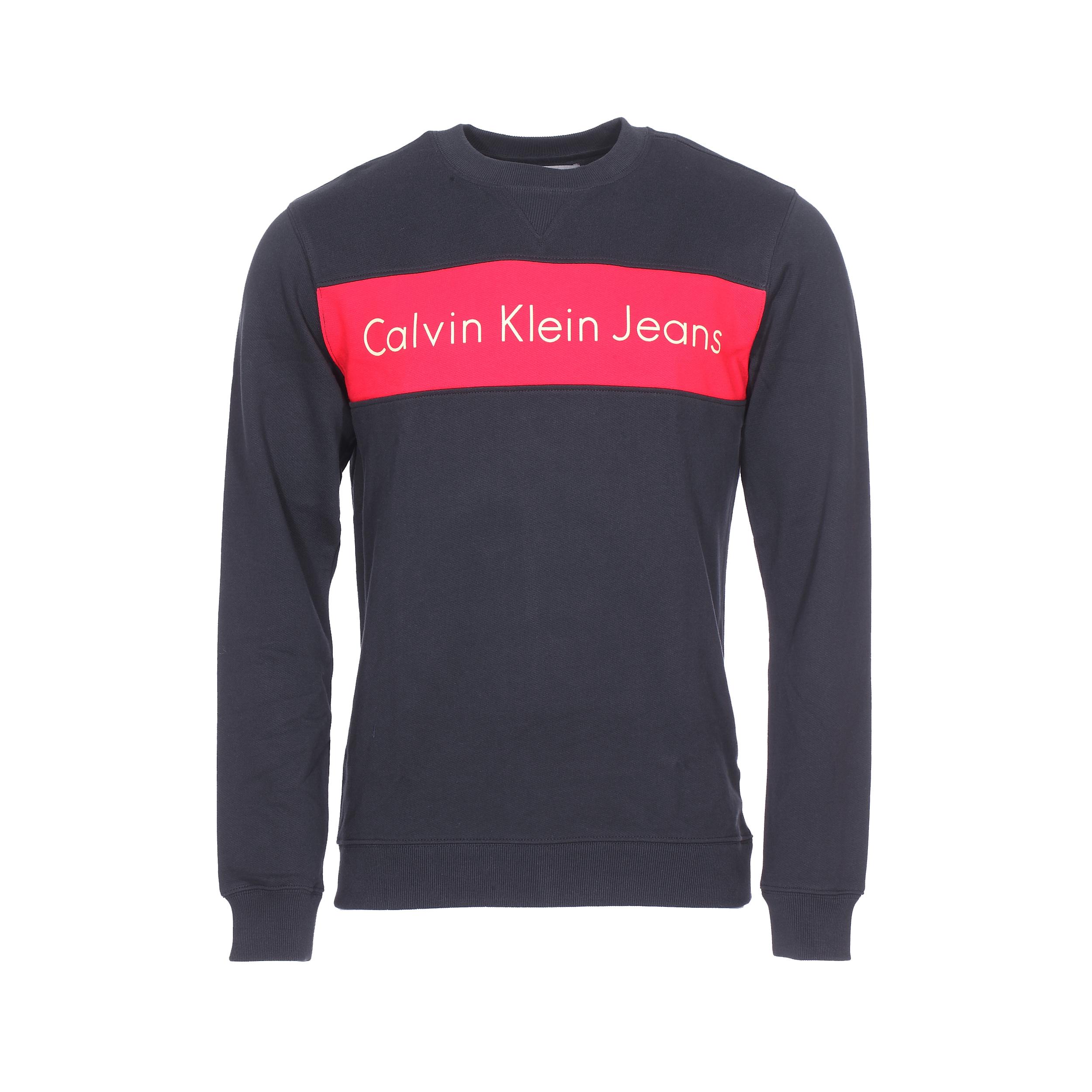 Sweat col rond Calvin Klein Hayo noir