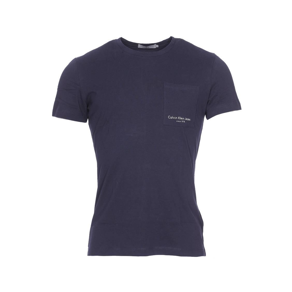 Tee-shirt col rond  talb bleu marine