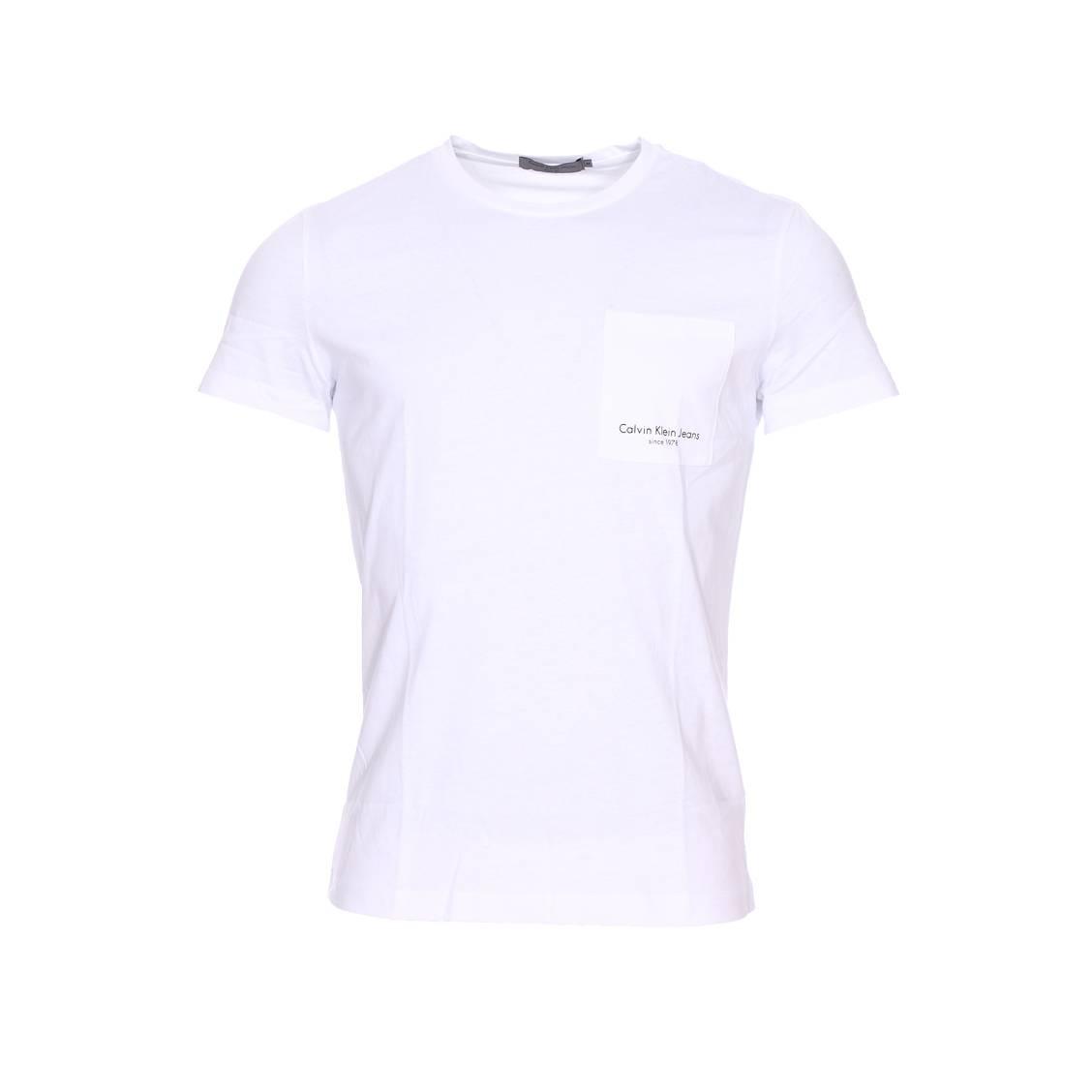 Tee-shirt col rond  talb blanc