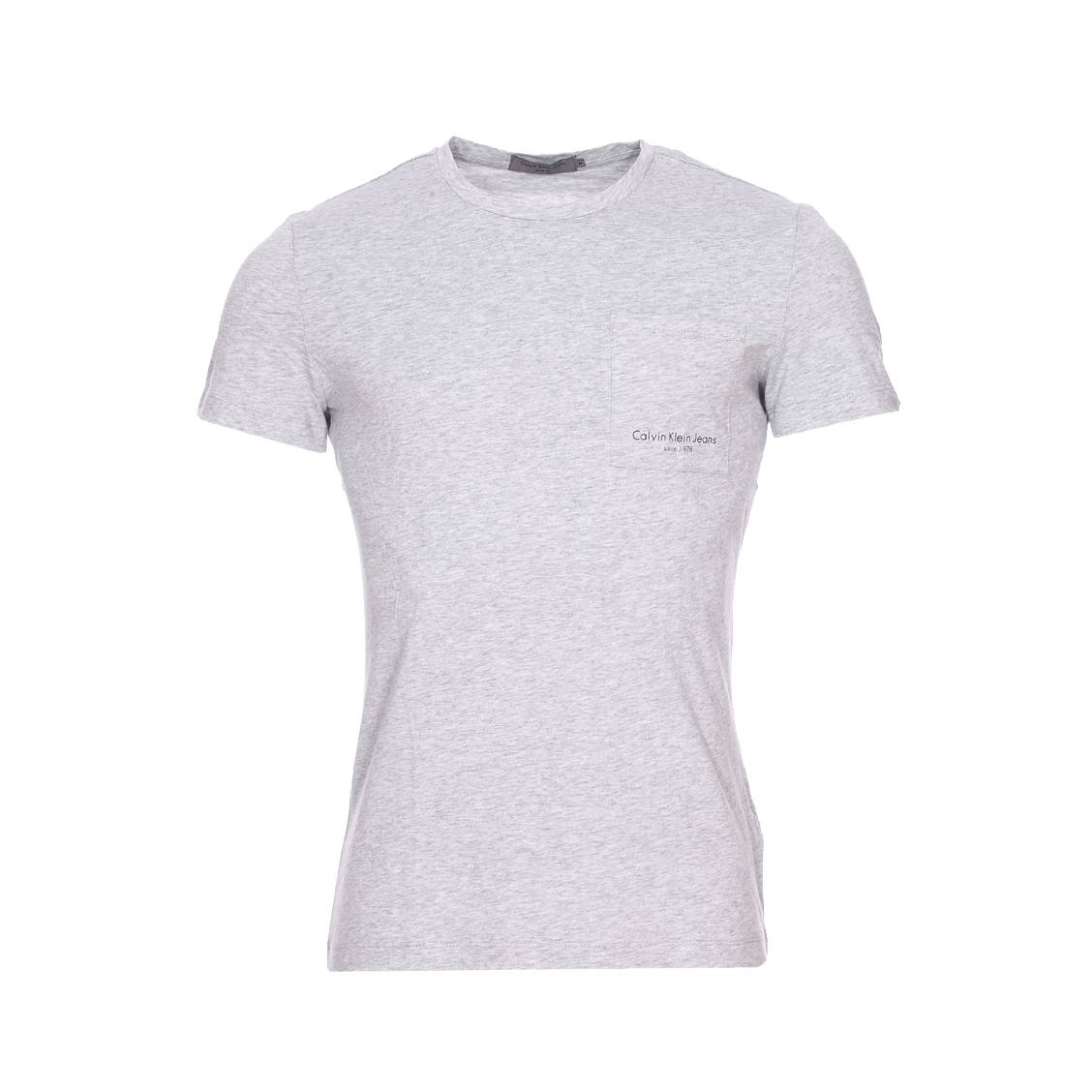 Tee-shirt col rond  talb gris chiné