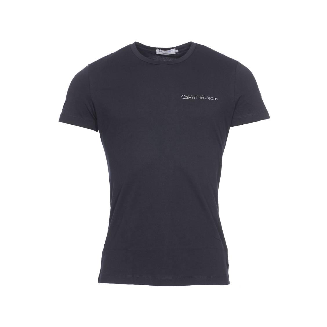 Tee-shirt col rond  typoko en coton noir
