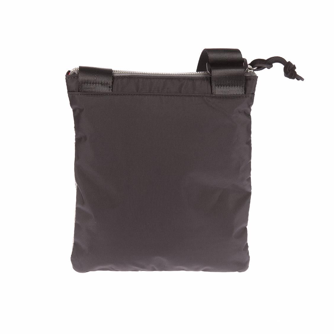 Sacoche plate porté croisé Diesel F-Scuba Cross noire à empiècement gris chiné WMrSQHJ6uy