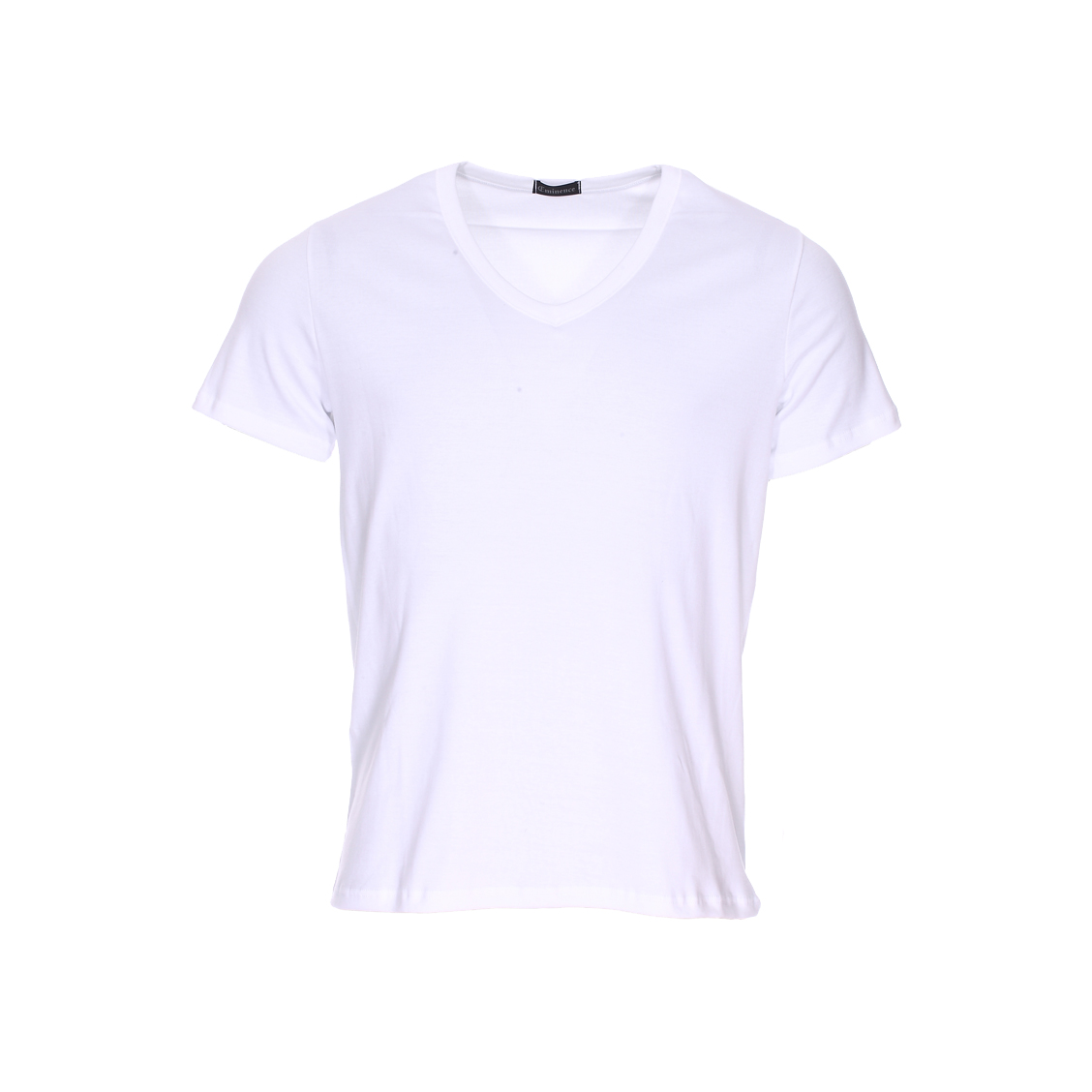 Tee-shirt col V Eminence L'Optimum en coton blanc, tissu français