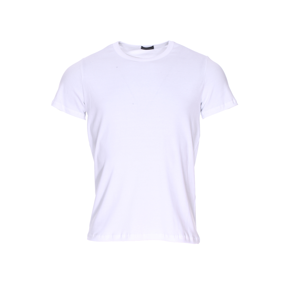 Tee-shirt col rond Eminence L'Optimum en coton blanc, tissu français