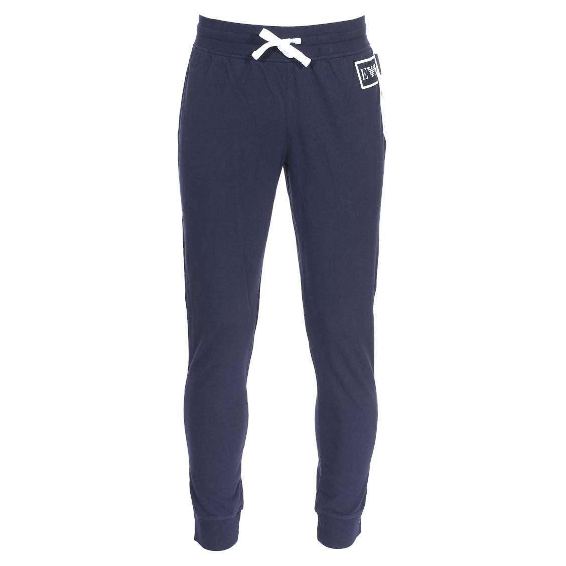 Pantalon d'intérieur forme jogging Emporio Armani bleu marine