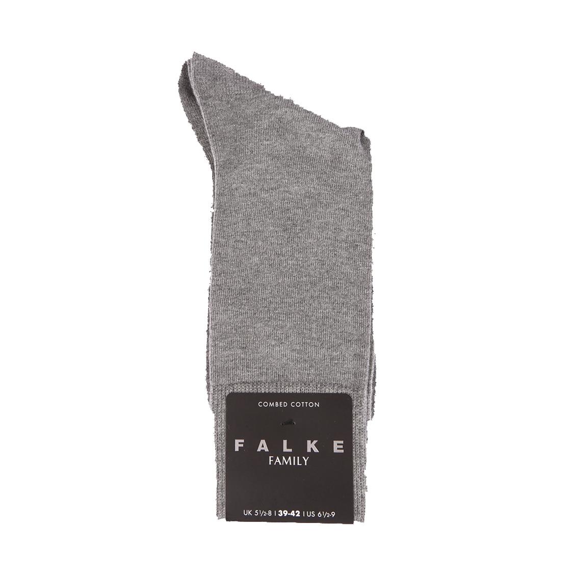 Chaussettes Family Falke en coton peigné stretch gris clair chiné
