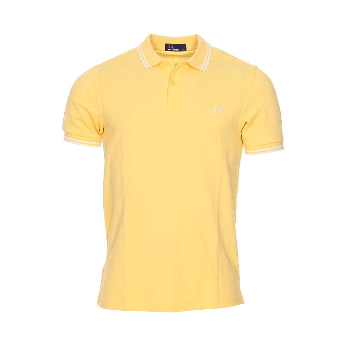 Polo Fred Perry Twin Tipped en piqué de coton kaki lNwnw