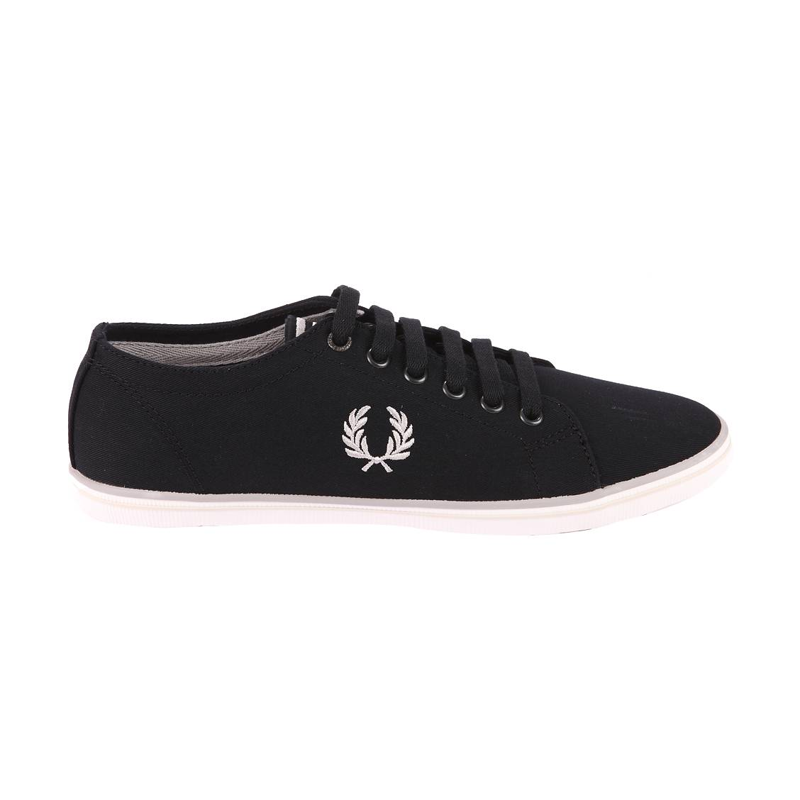 Baskets Fred Perry Kingston twill en toile noire