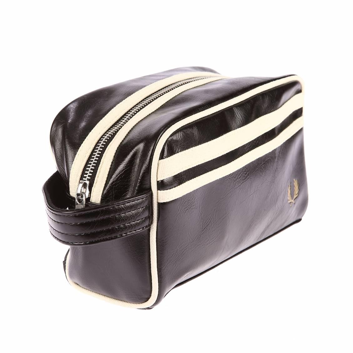 Trousse de toilette Fred Perry Classic Travel Kit Bag Black/Ecru noir YdSG28GoZ2