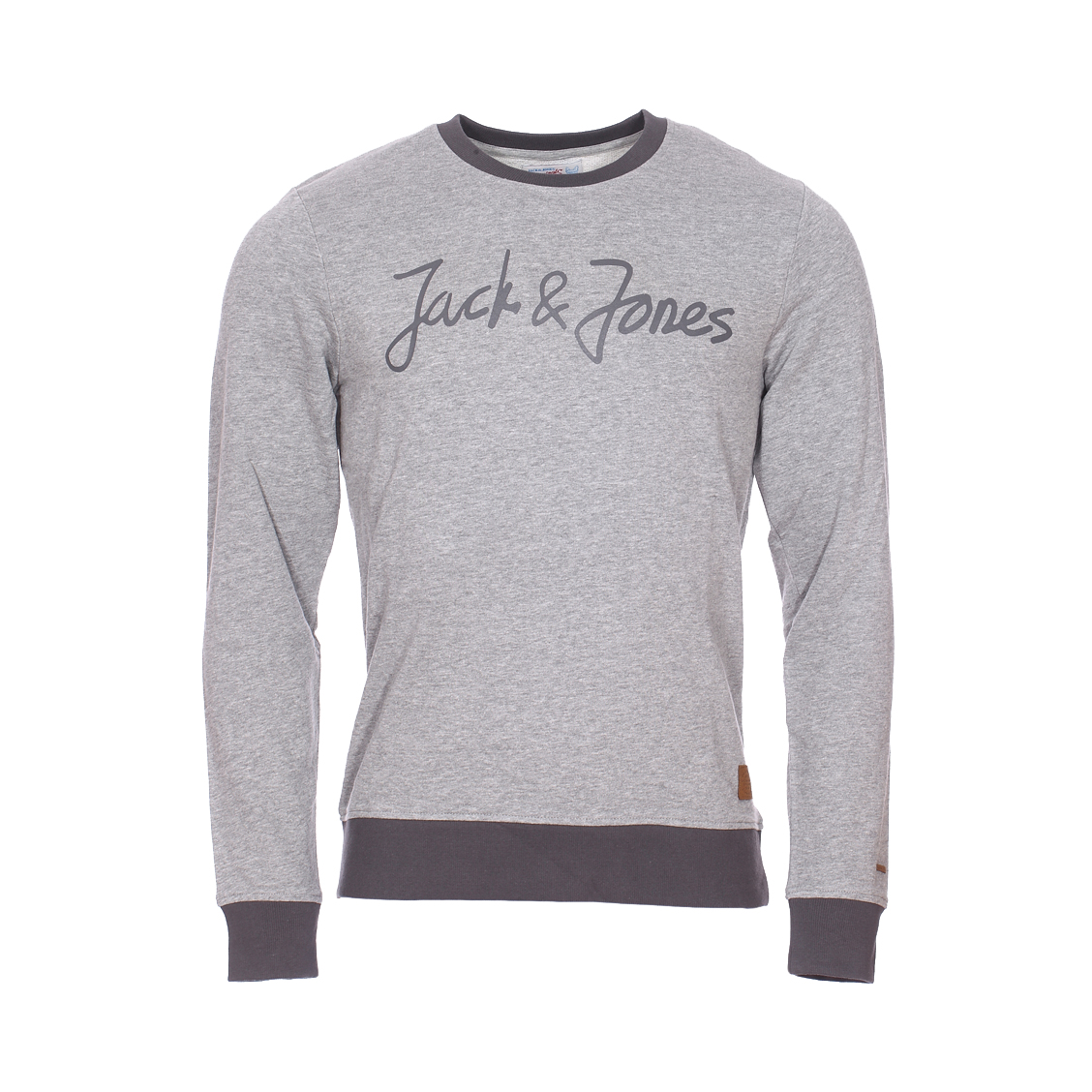 Sweat col rond Jack & Jones Jorlegend en coton mélangé gris chiné