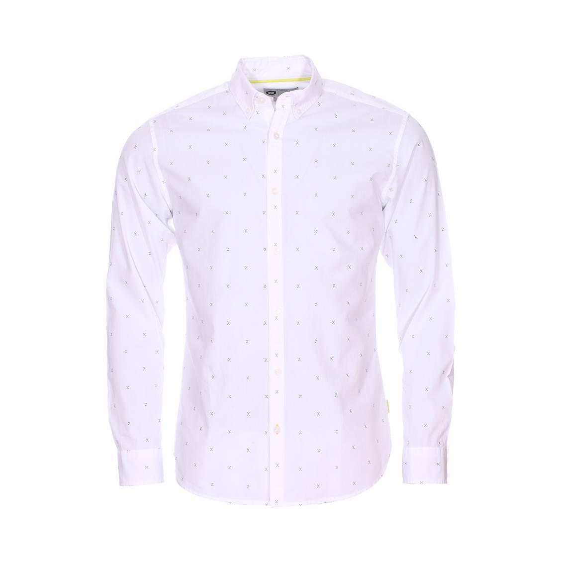 Chemise cintrée jack & jones en coton blanc à motifs