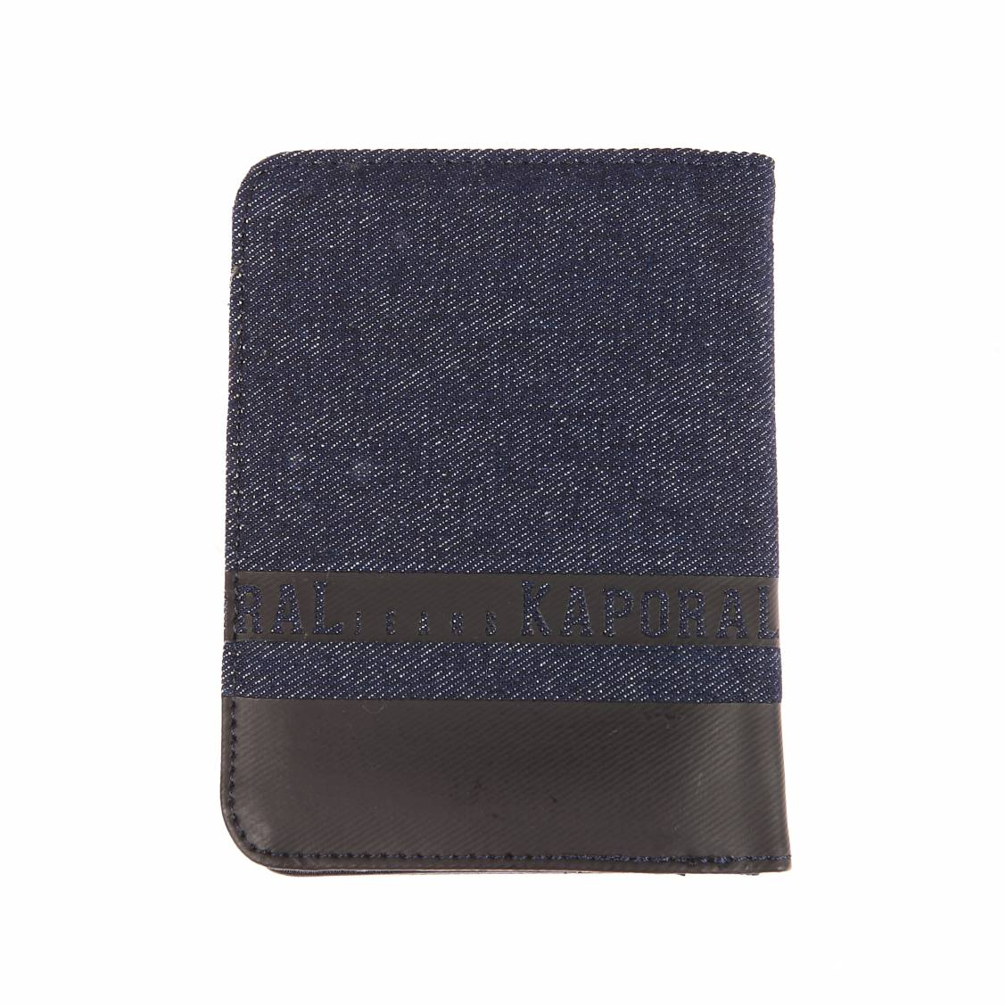 Portefeuille italien 2 volets Kaporal Niss en jean à empiècement noir FaUI5QATIh