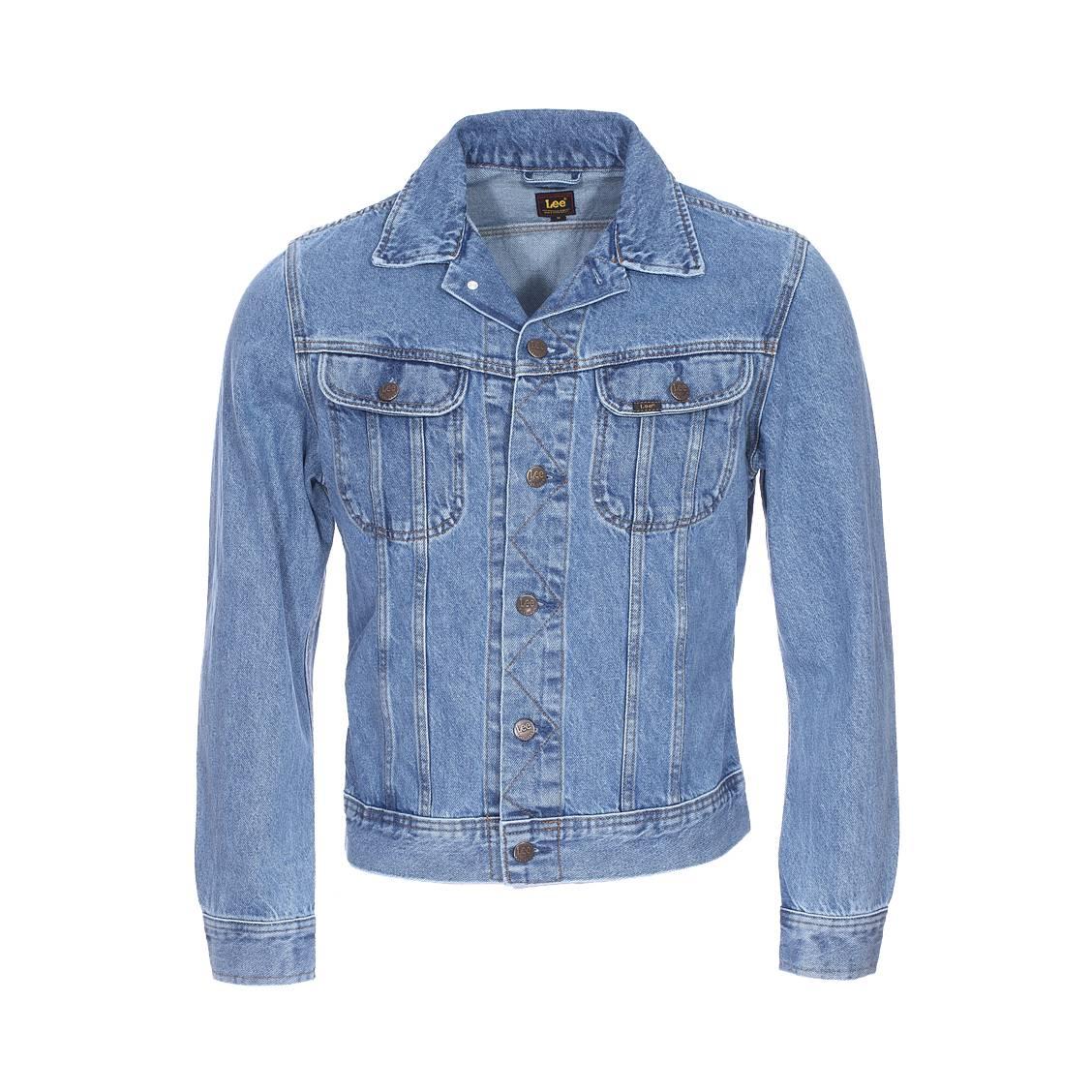 Veste en jean  slim rider en coton bleu