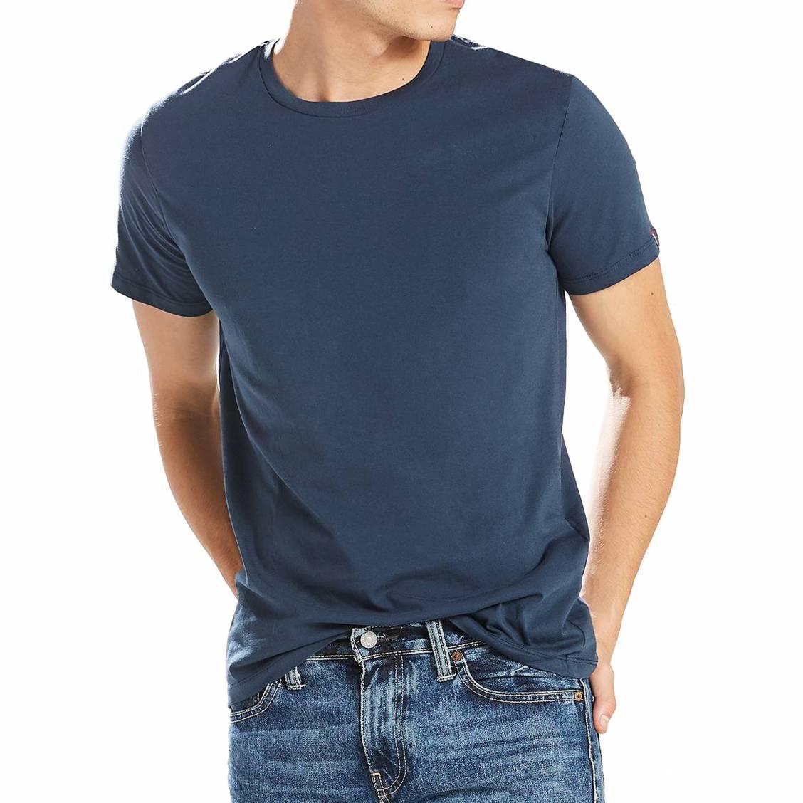 lot de 2 tee shirts levi 39 s slim fit crewneck en coton. Black Bedroom Furniture Sets. Home Design Ideas