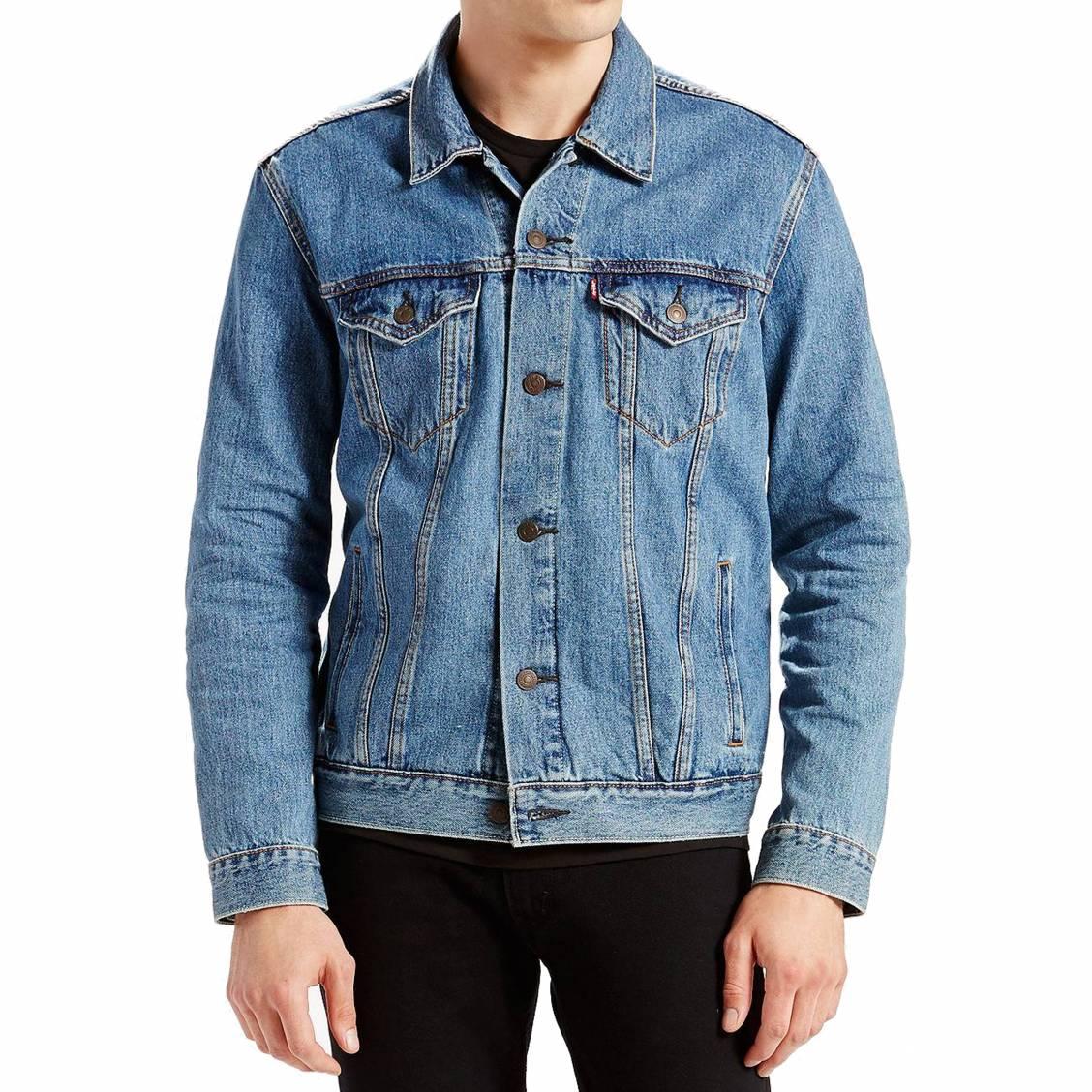Veste en jean trucker levi\'s medium stonewash bleu clair vintage