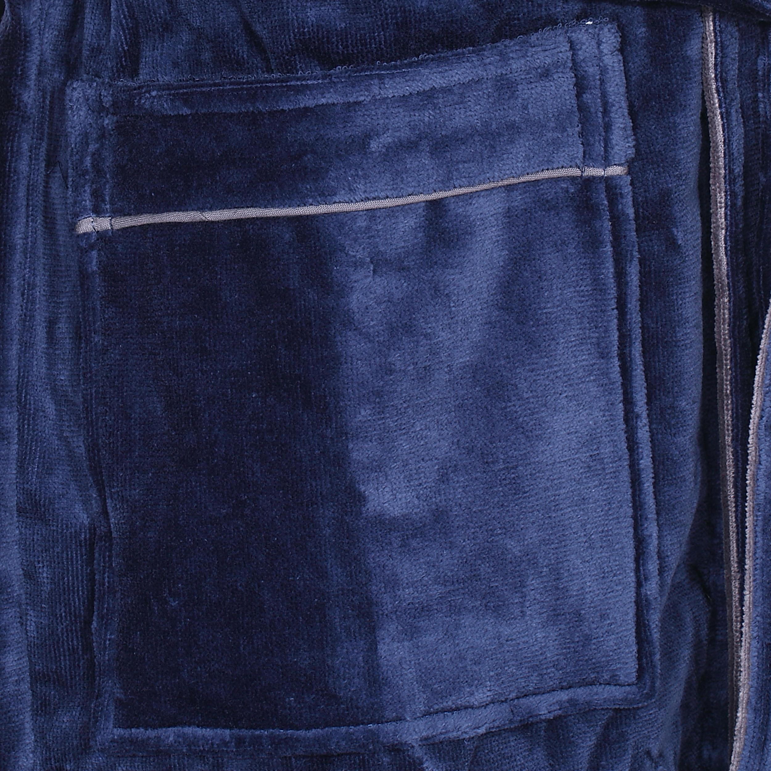Peignoir eponge Mariner marine et gris a exterieur en velours-3-0.jpg 2b481e2380a