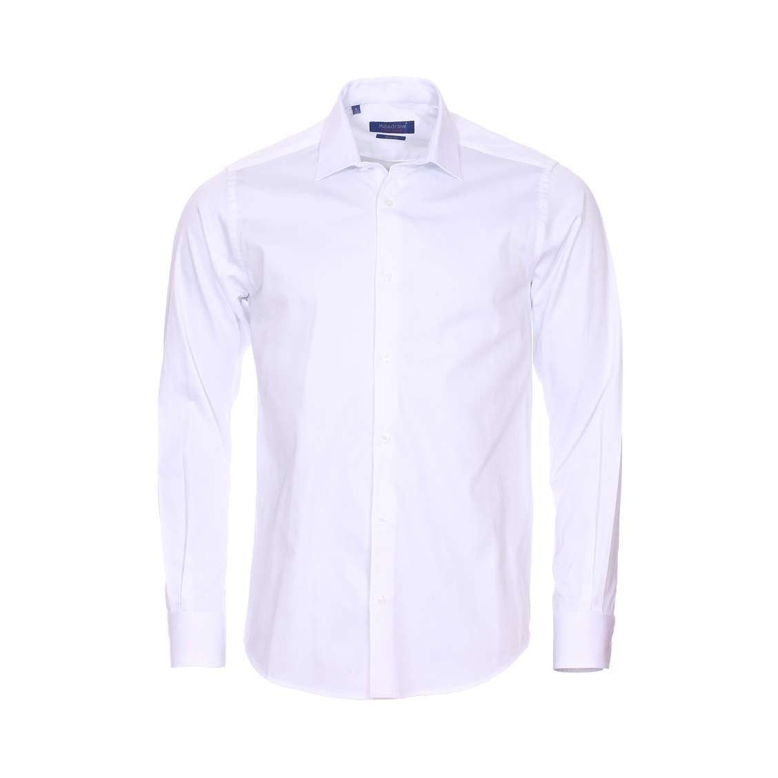 Chemise cintrée  basic en coton blanc