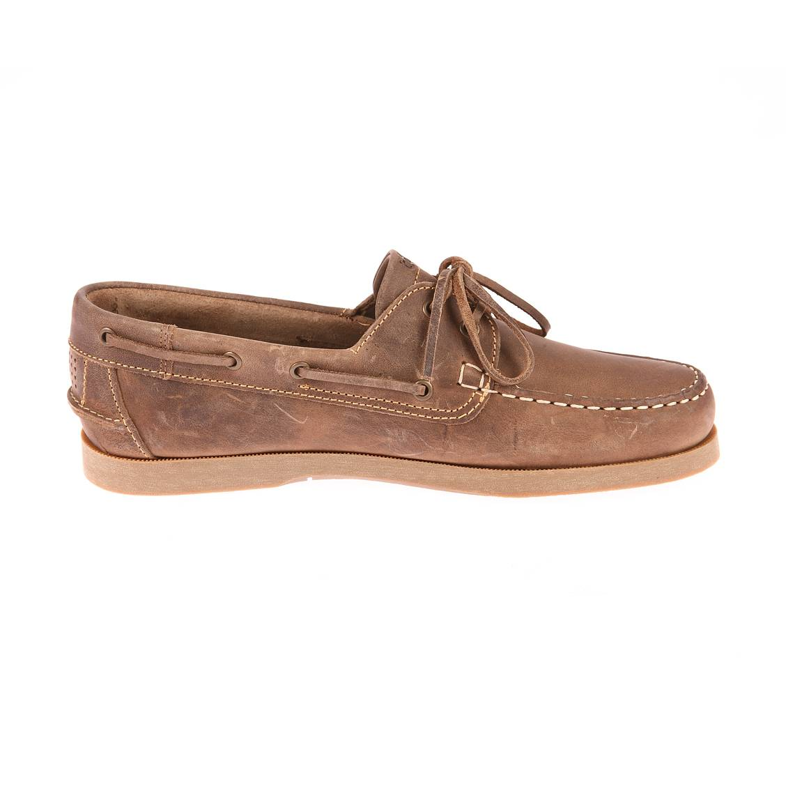 Chaussures bateau homme  phenis marron vieilli