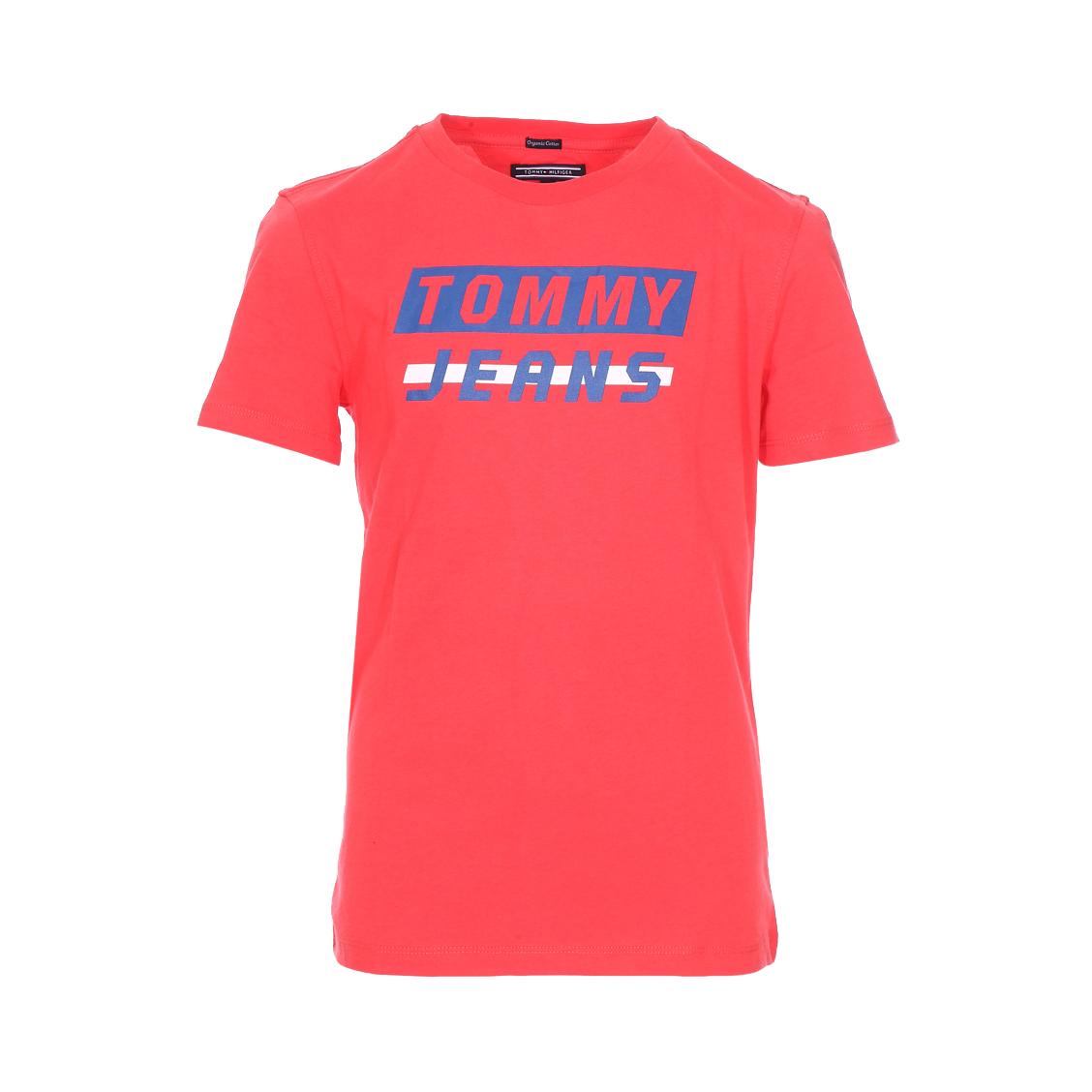 Tee-shirt col rond  ame bold en coton biologique rouge floqué