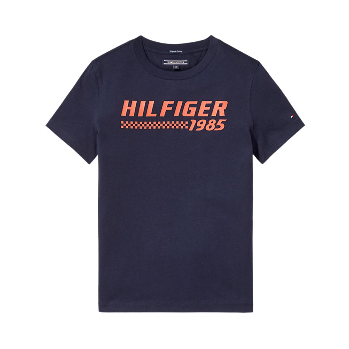 Tee-shirt col rond  ame bright graphic en coton biologique noir floqué