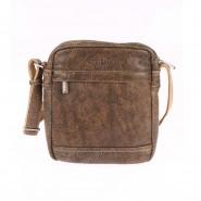 Sacoche bandoulière Arthur & Aston en cuir vieilli marron