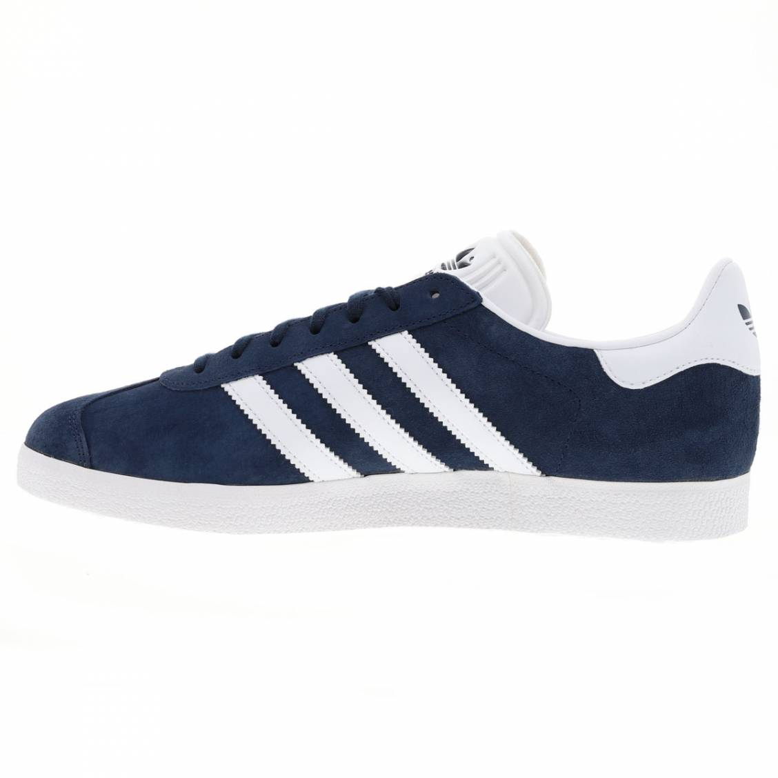 ... Baskets Adidas Gazelle en cuir suédé bleu marine ...