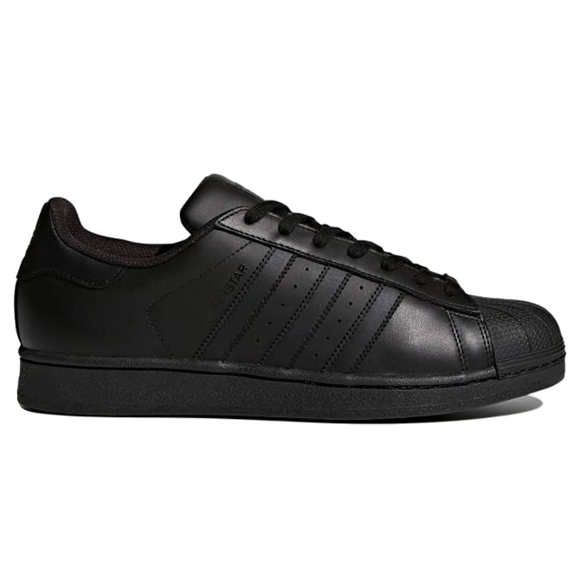 Baskets Adidas Superstar en cuir enduit noir