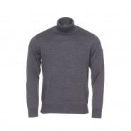 Pull col roulé Armor lux Ferel en laine gris anthracite