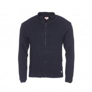 Cardigan zippé Armor Lux Plouescat en laine bleu marine