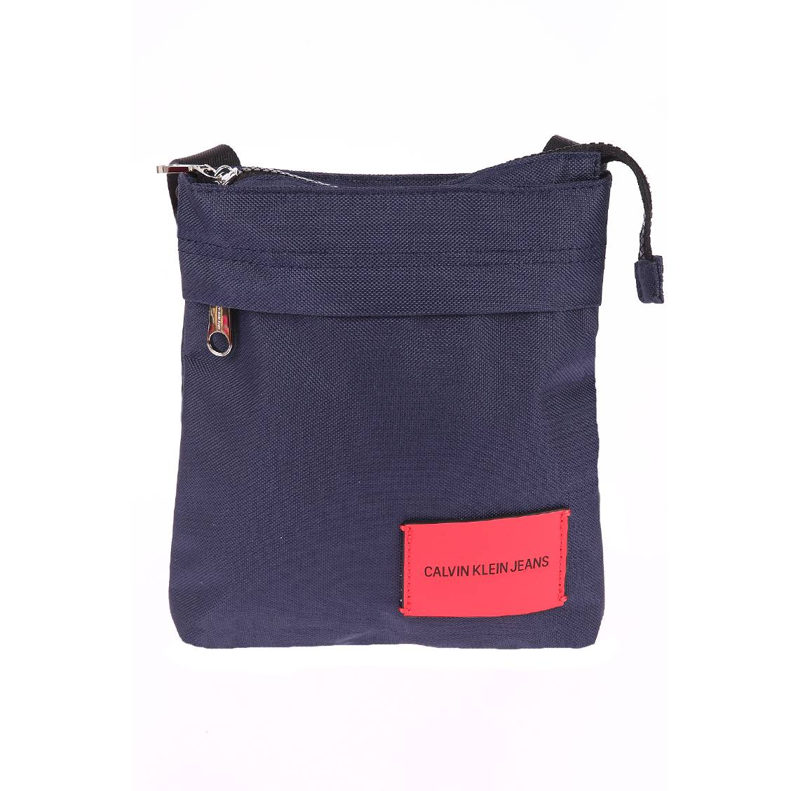Sacoche plate Calvin Klein Sport Essential Micr en toile noire 5lXwR