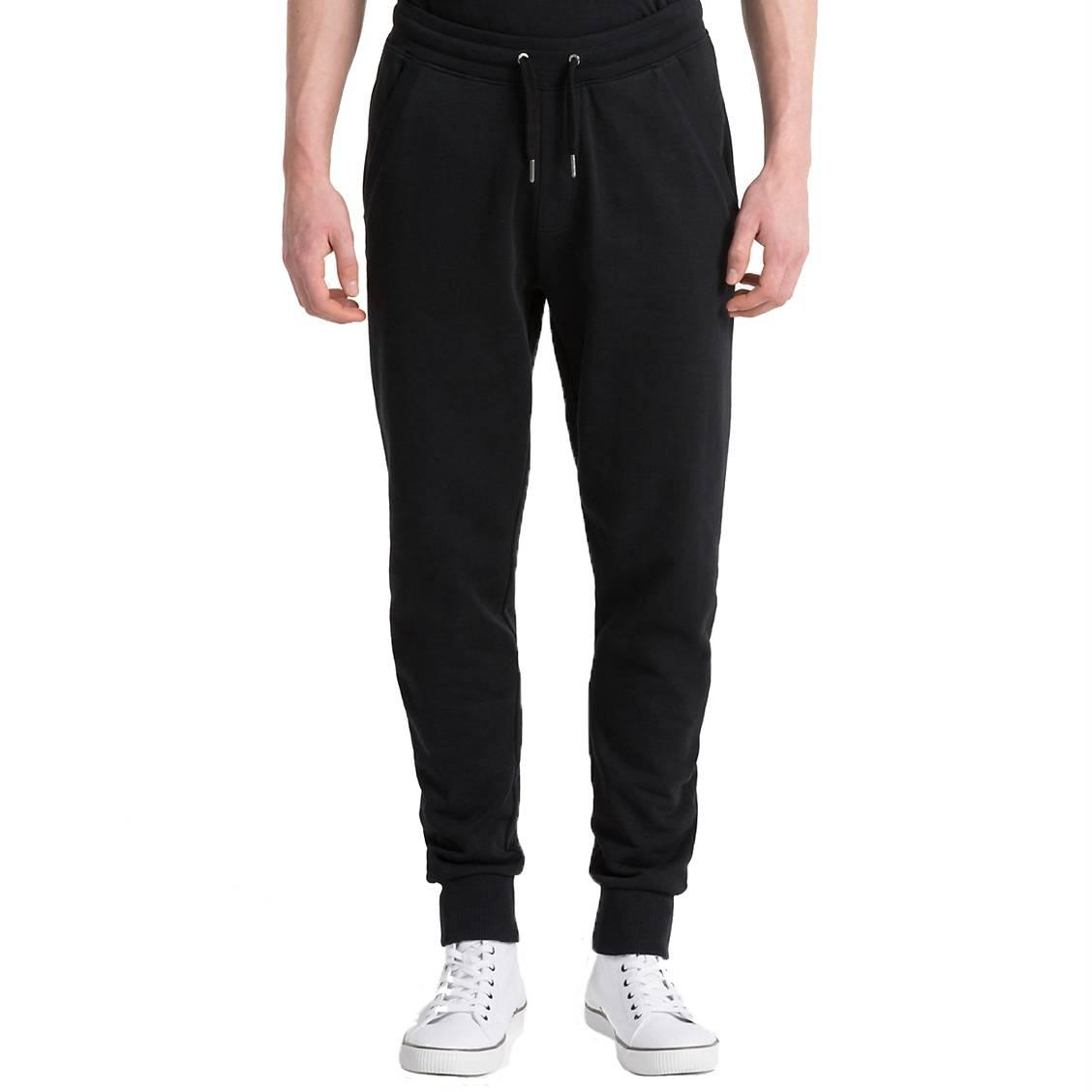 42a658c8cf8 Pantalon de jogging Calvin Klein Monogram Logo en coton noir ...