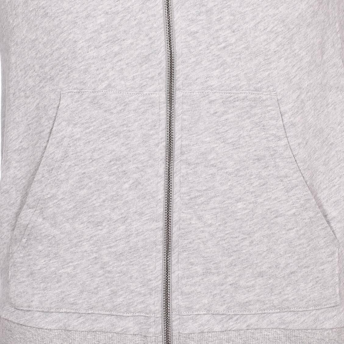 9dabdc7f266 ... Sweat à capuche zippé Calvin Klein en molleton gris chiné