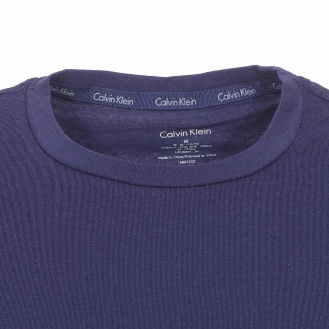 53f7cf36728 ... Pyjama court Short Set Calvin Klein   tee-shirt col rond bleu marine en  coton ...