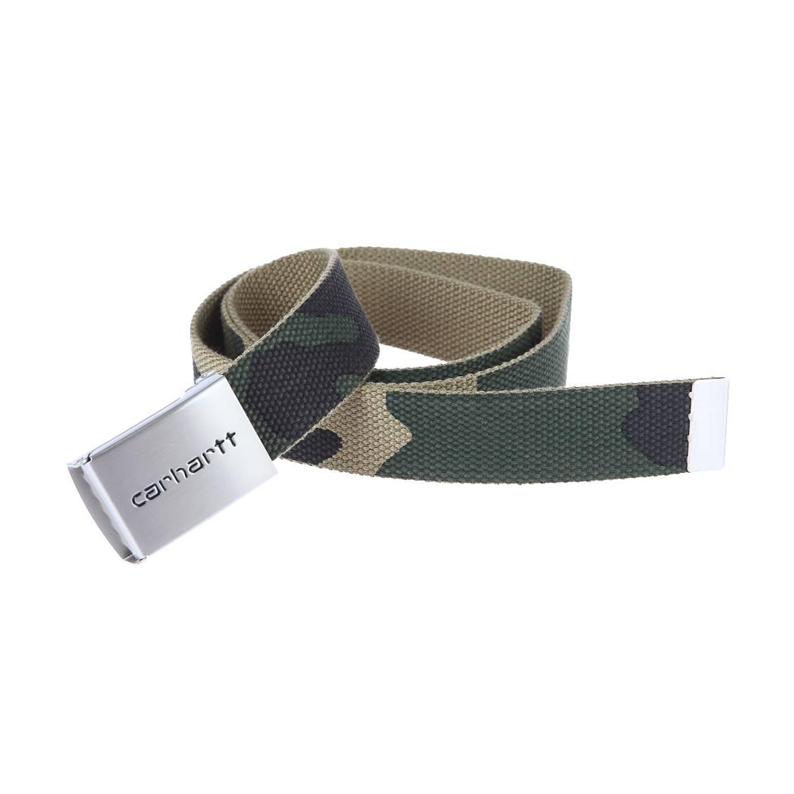 Ceinture ajustable Carhartt WIP Clip Belt Chrome à imprimé camouflage 2a5221e9194