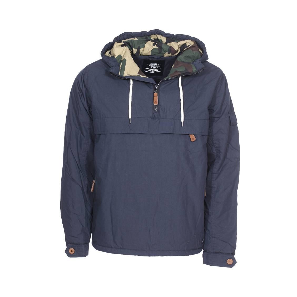 Veste à capuche  milford en coton mélangé bleu marine