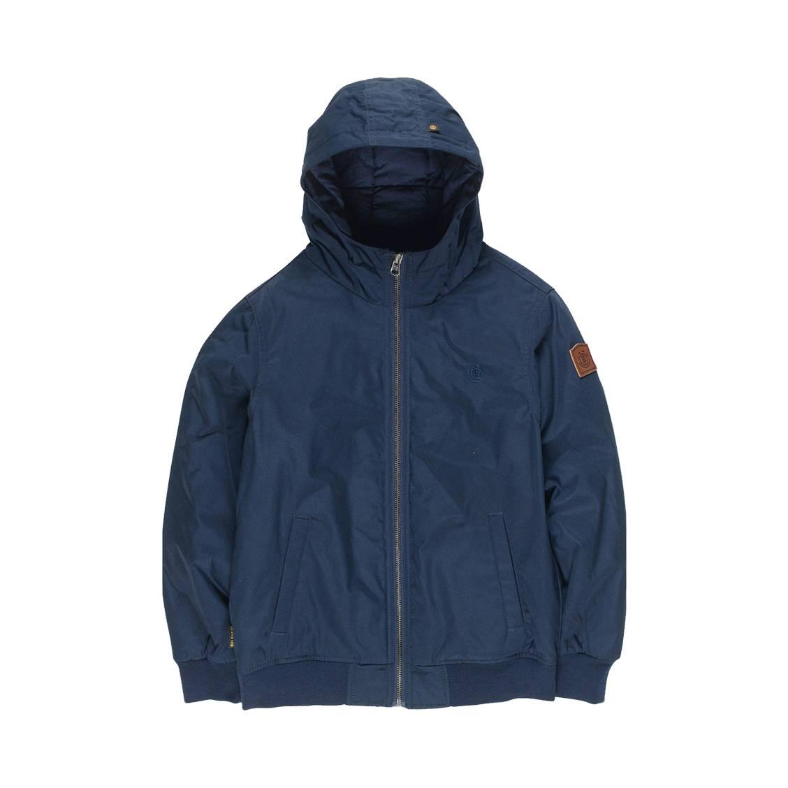 Blouson zippé à capuche Element Junior Dulcey bleu marine   Rue Des ... bbe8b9a1913