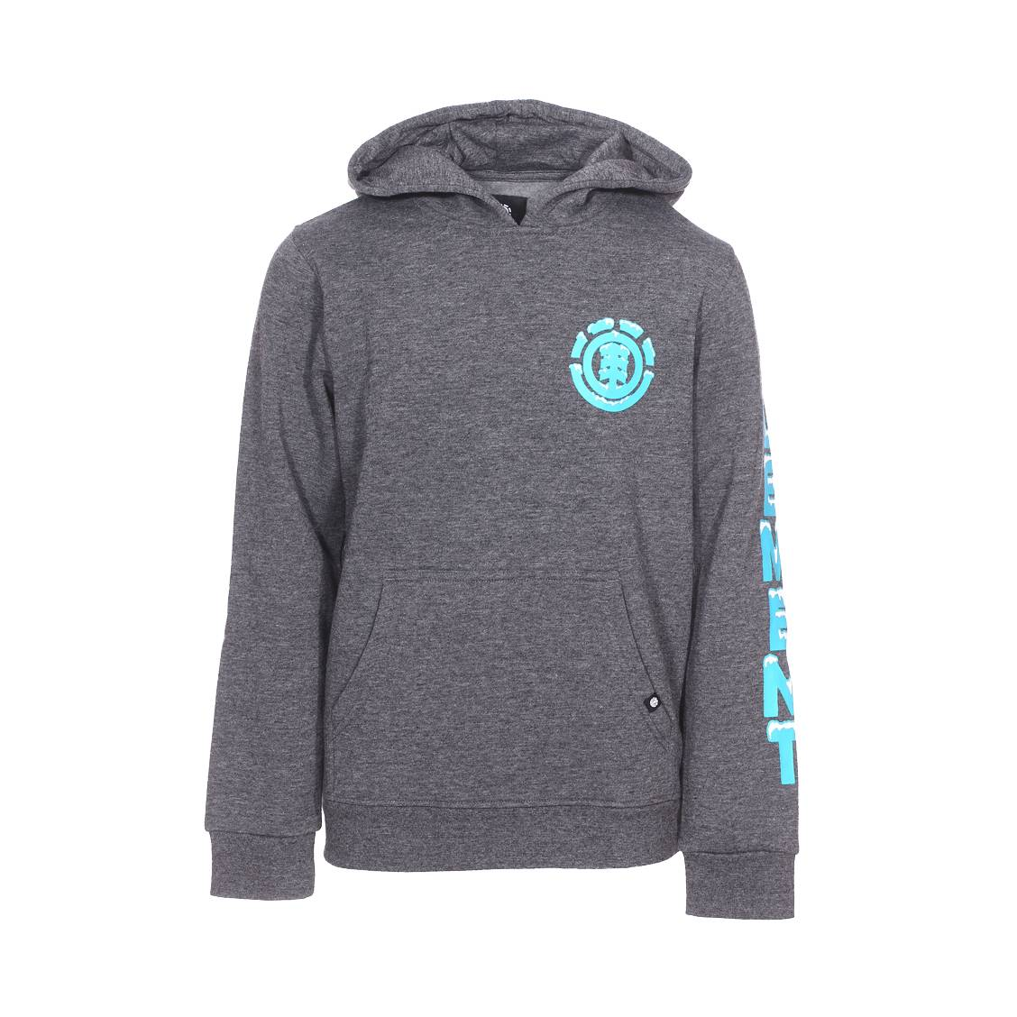 Royaume-Uni 100% de qualité vente chaude Sweat à capuche Element Junior Snow en molleton gris anthracite chiné floqué