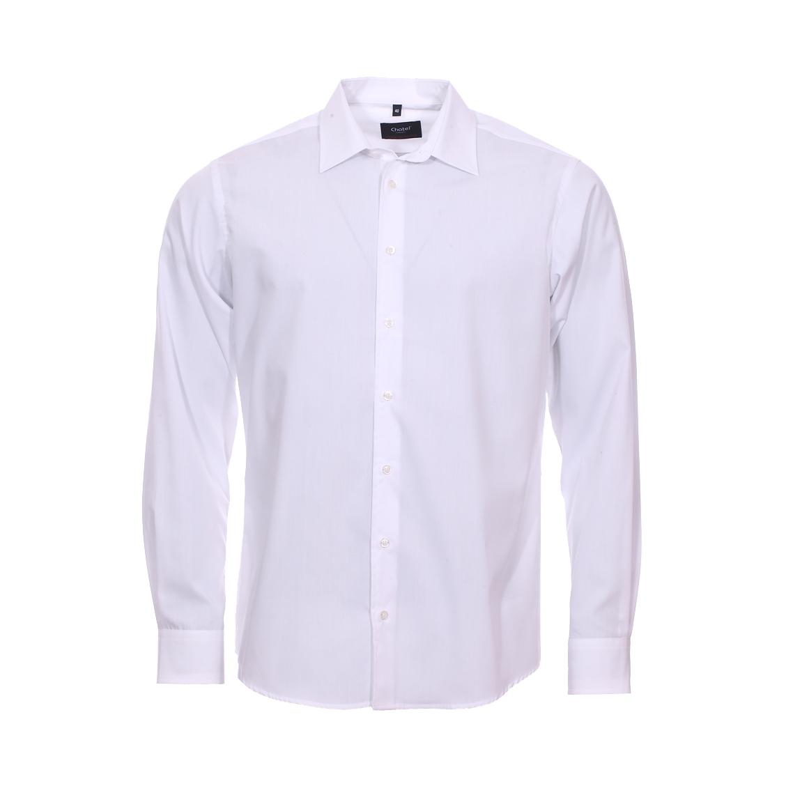 Chemise droite jean chatel bristol en coton blanc