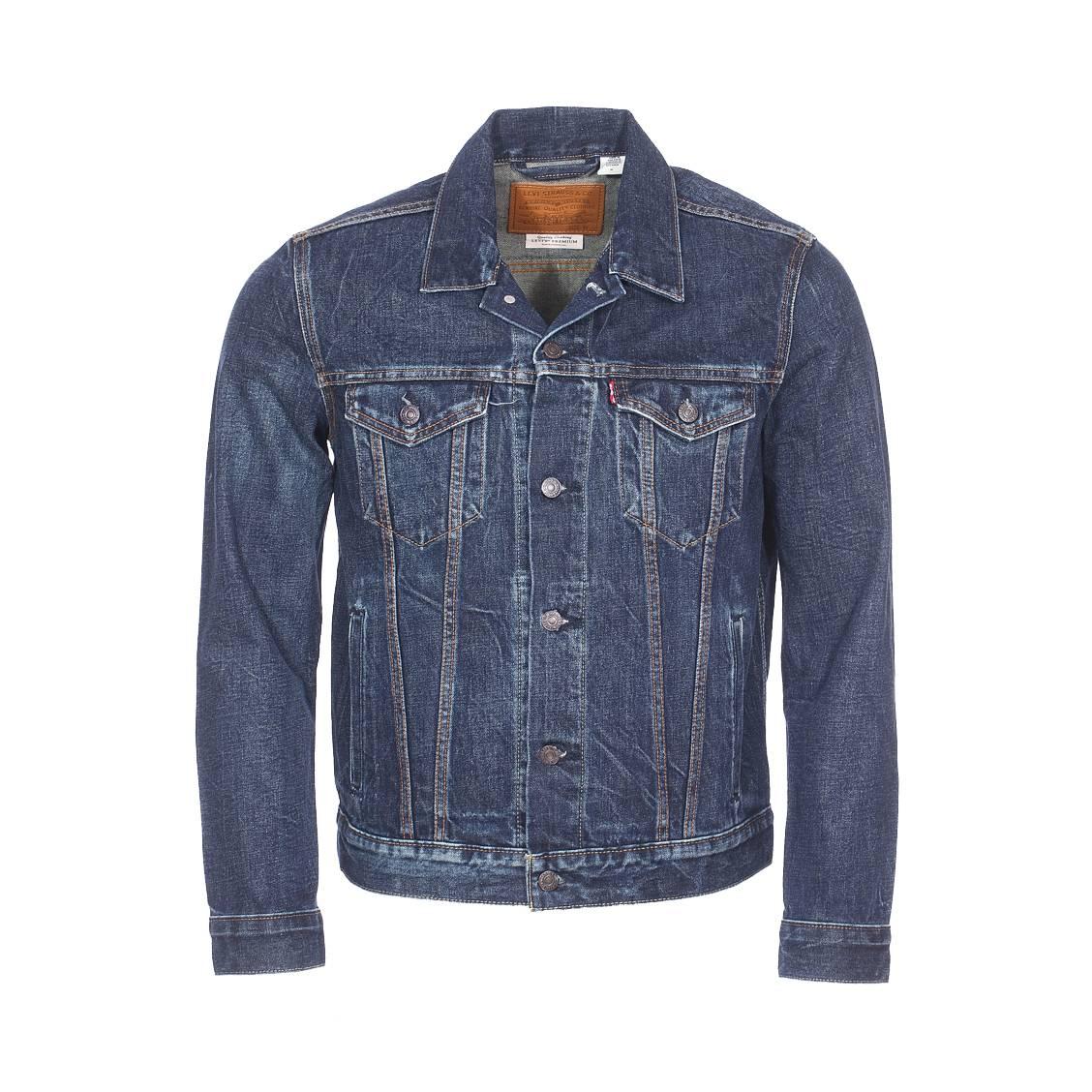 Veste en jean levi\'s the trucker en coton bleu foncé