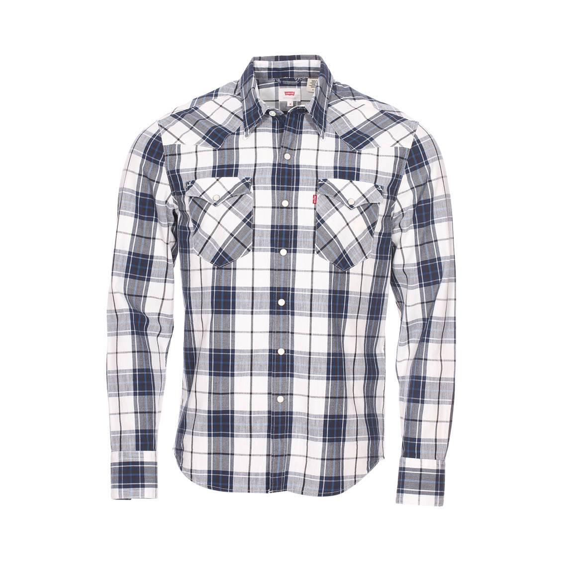 chemise cintr e levi 39 s barstow western en coton blanc. Black Bedroom Furniture Sets. Home Design Ideas