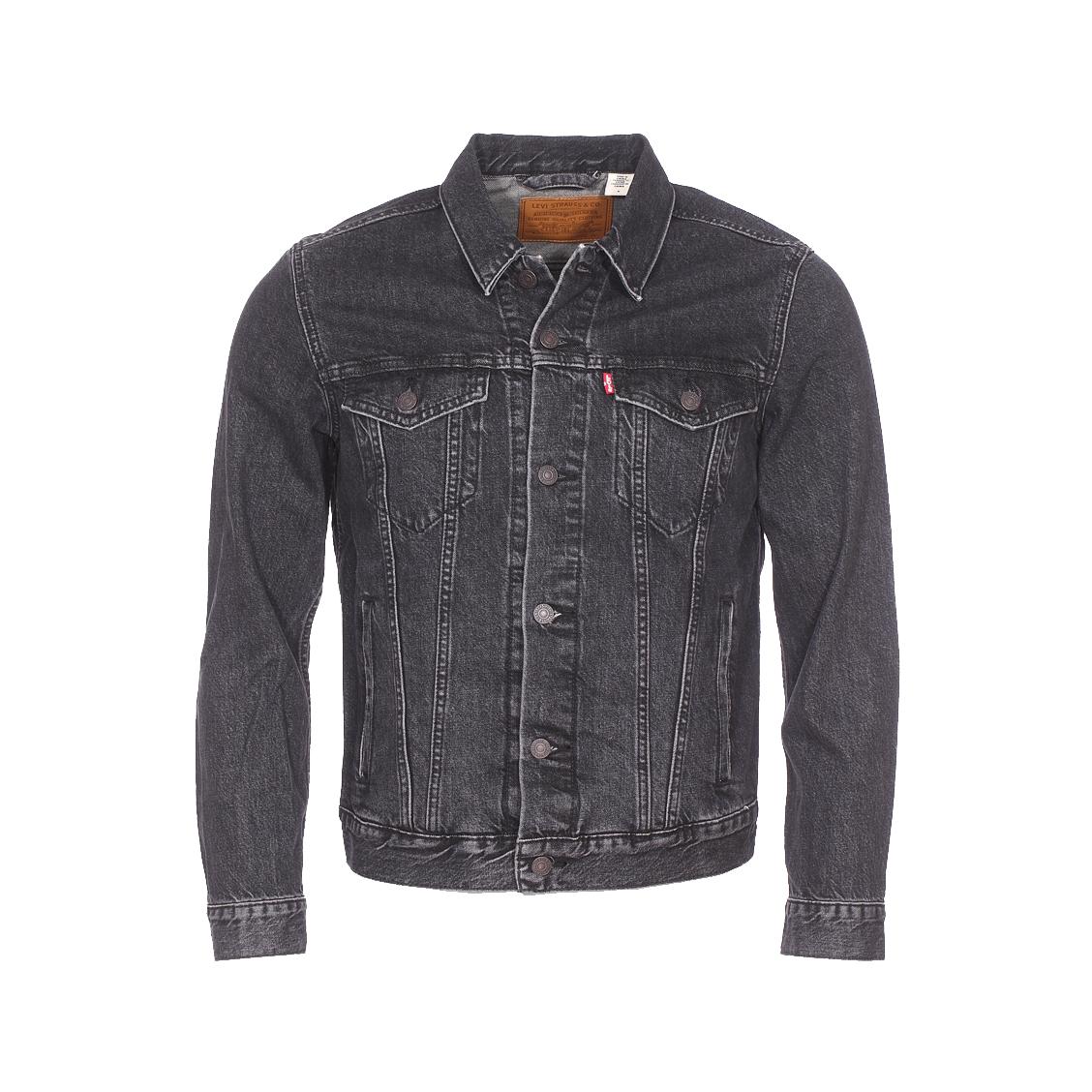 Veste Levi's Trucker en jean gris anthracite. Blouson Levi's  - Coton (100%) - Jean gris anthracite