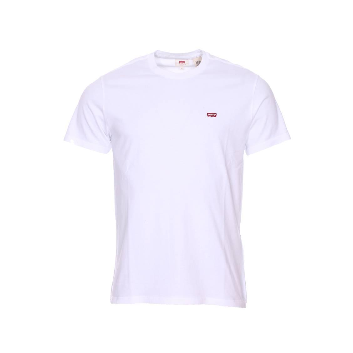 tee shirt col rond levi 39 s original en coton blanc rue. Black Bedroom Furniture Sets. Home Design Ideas