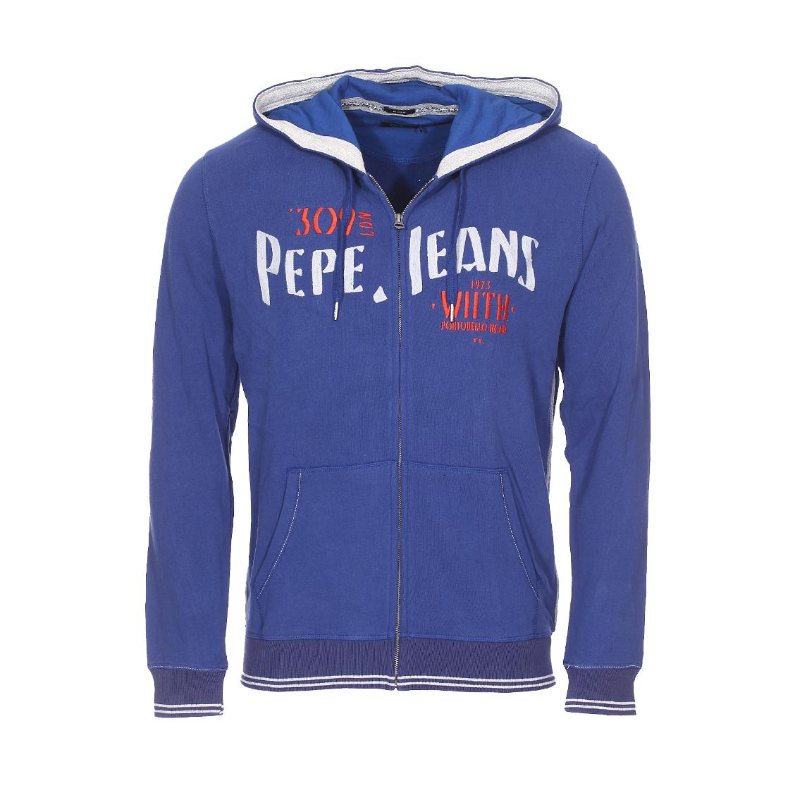Sweat à capuche Pepe Jeans Misfit en coton bleu pétrole