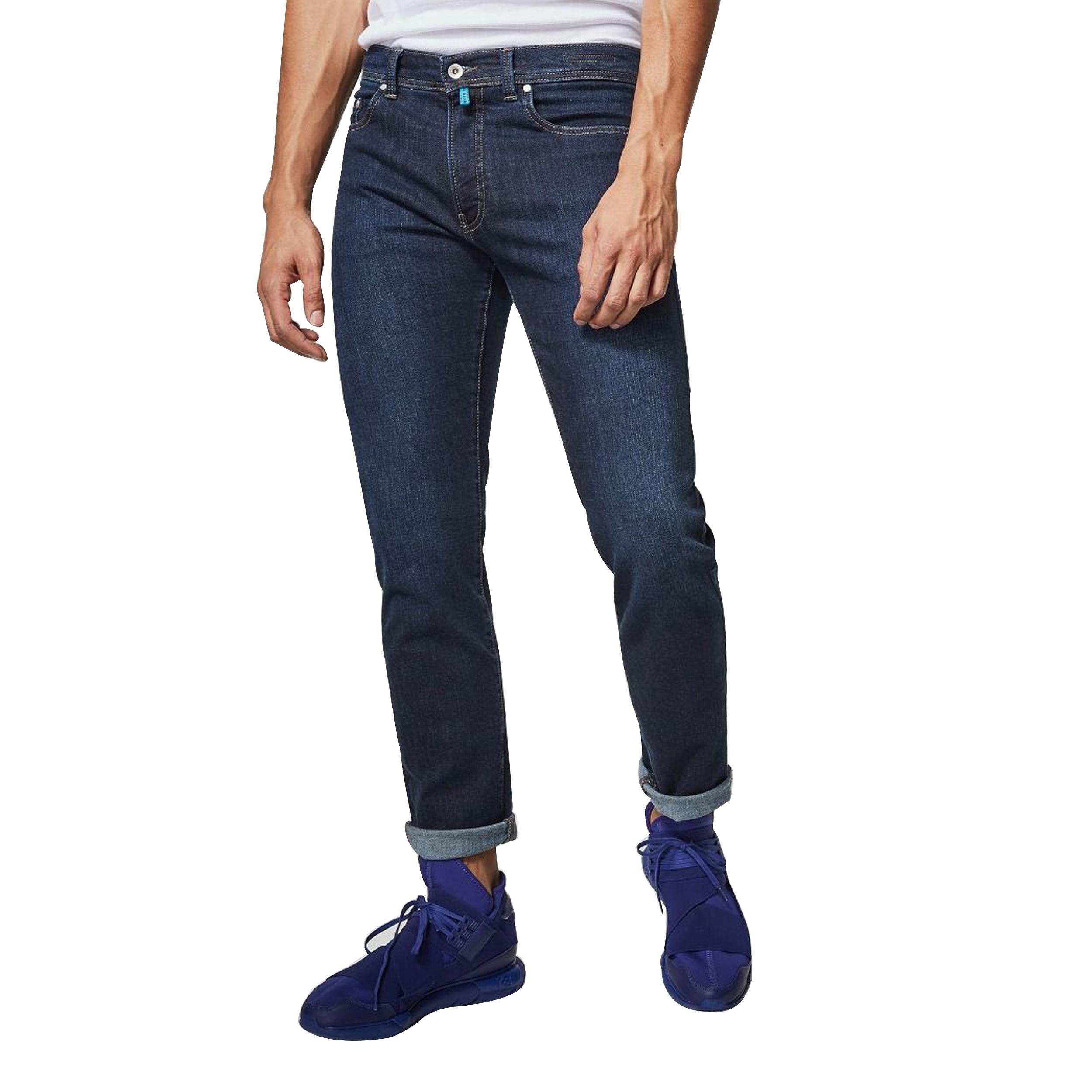 Jean  lyon tapered futurflex en coton mélangé stretch bleu brut