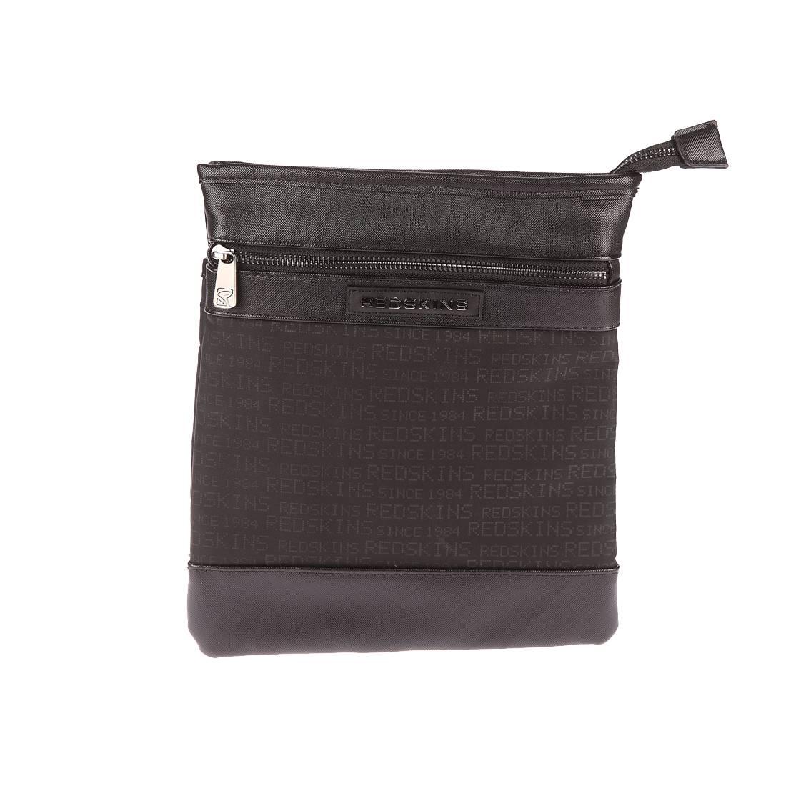 Grande sacoche plate redskins fever bi-matière imprimée noire
