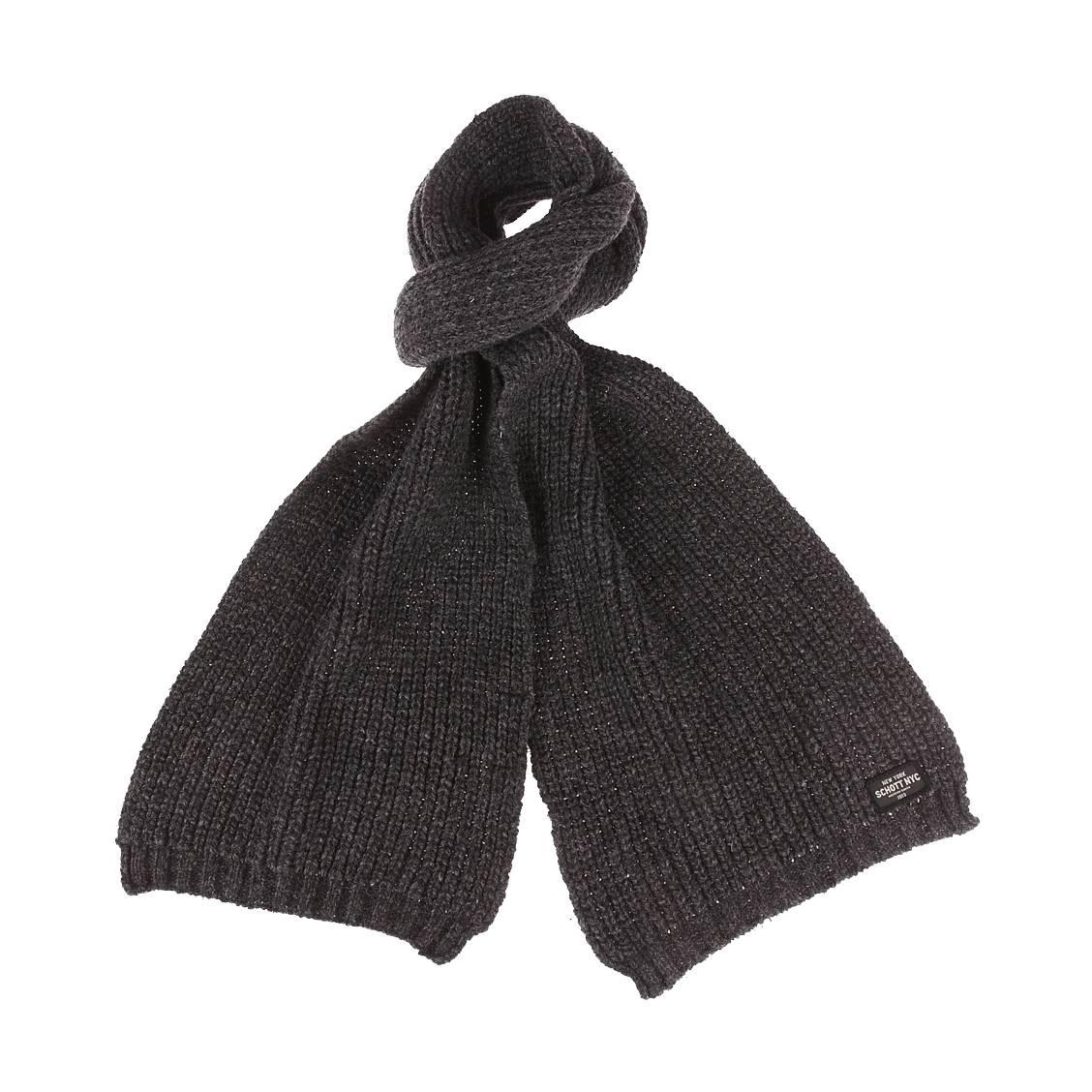 Echarpe  holder en laine mélangée gris anthracite